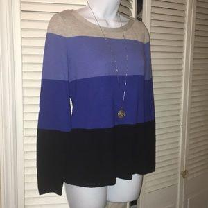 Banana republic sweater blue/grey stripe size S
